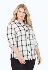 Foxcroft Foxcroft Zoey Non-Iron Windowpane Plaid Shirt