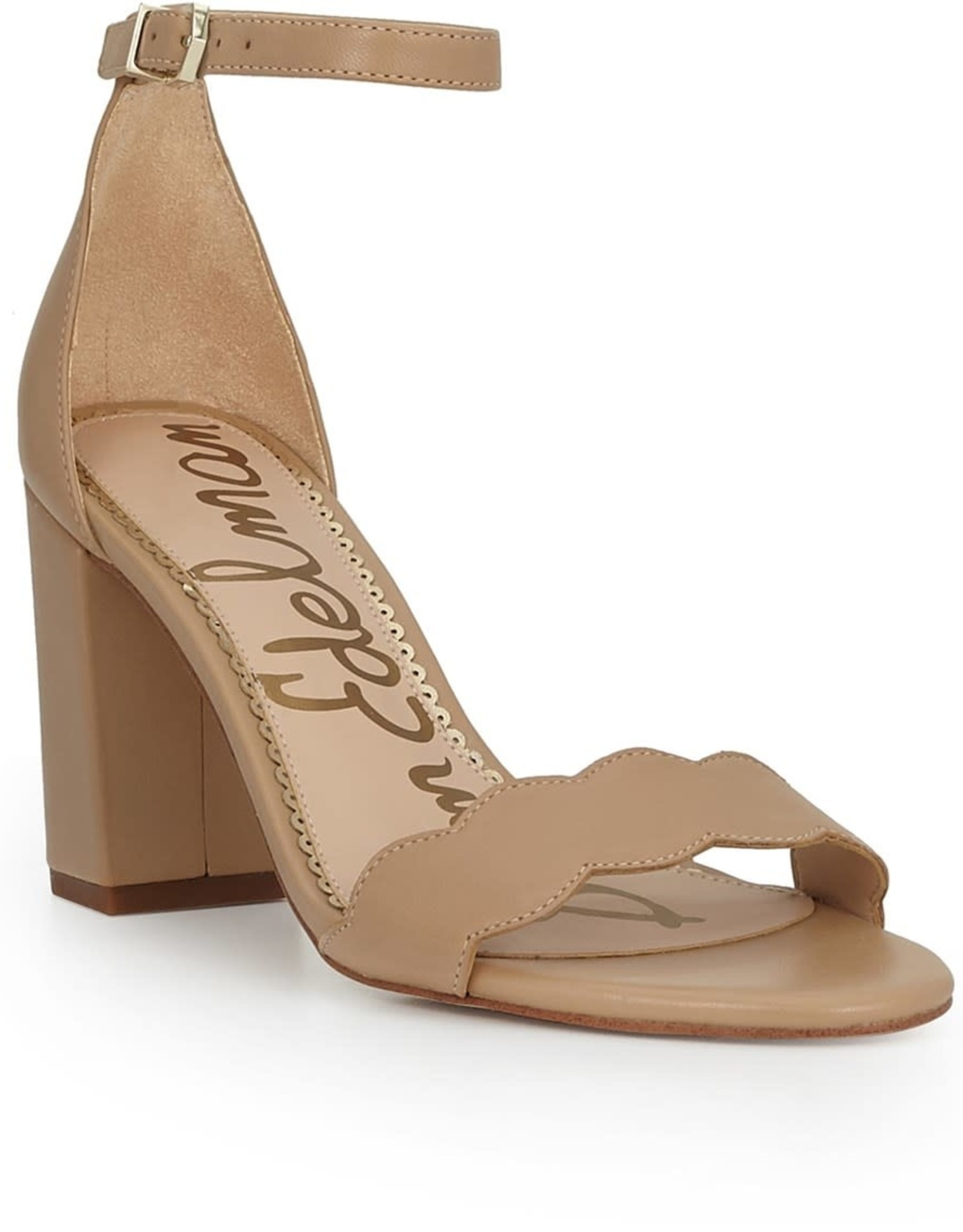 Sam Edelman Sam Edelman Odila Ankle Strap Sandal in Soft Beige Leather