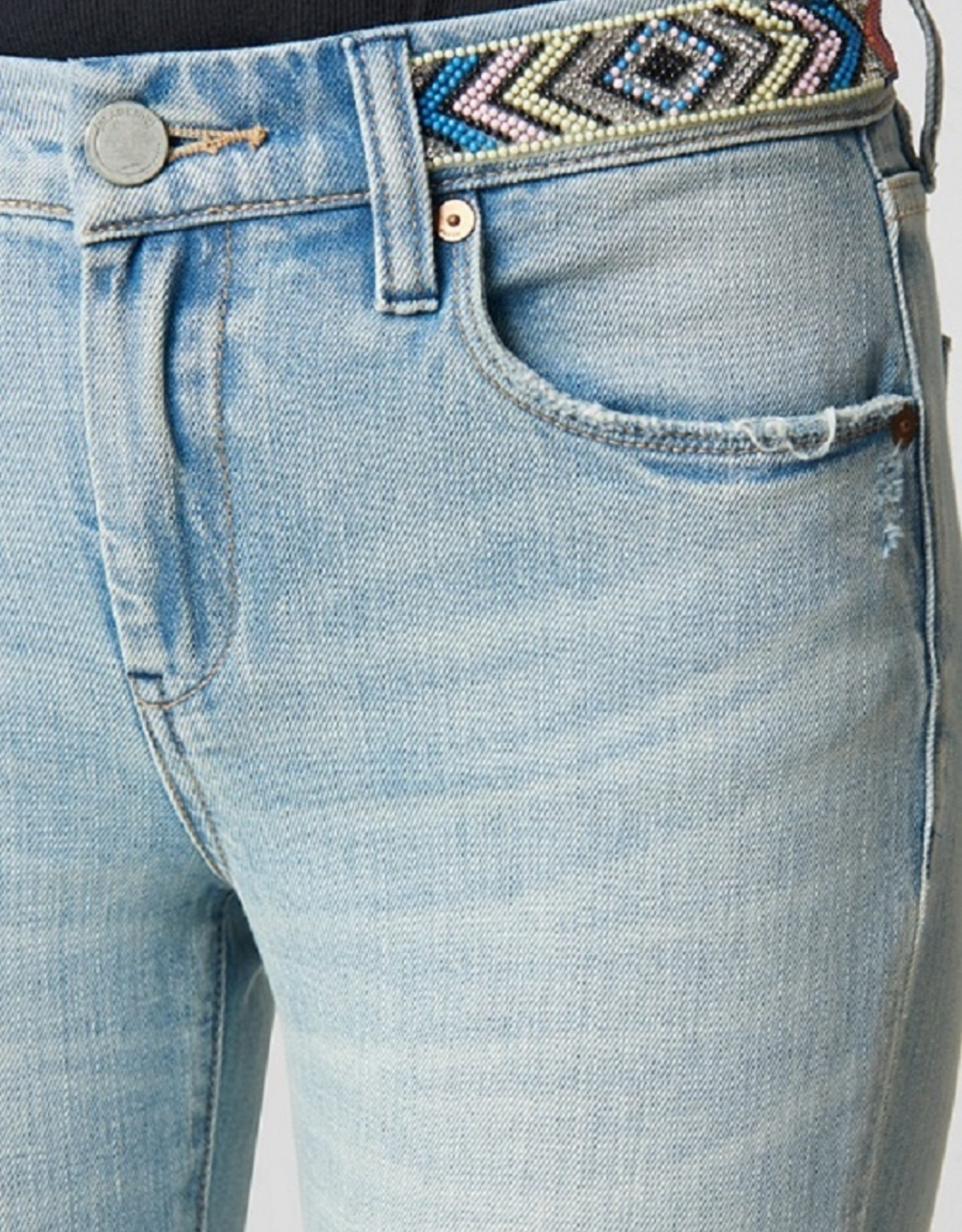 BlankNYC BlankNYC Reade Crop High Waist Jeans in Nashville Indigo with Beaded Waistband