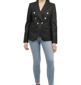 Love Token Love Token Nellie Vegan Leather Double Breasted Blazer