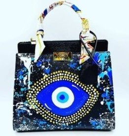 Anca Barbu Evil Eye Custom Leather Handbag