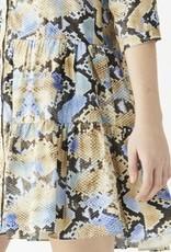VilaGallo Vilagallo Georgette Blue Piton Dress