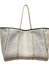 Parker & Hyde Champagne Fawn Neoprene Tote