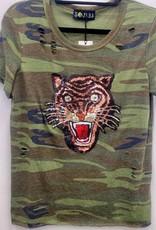 SoJara SoJara Camo Sequin Tiger T-shirt