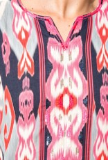 bella tu bella tu Isabel Cherry Ikat Dress