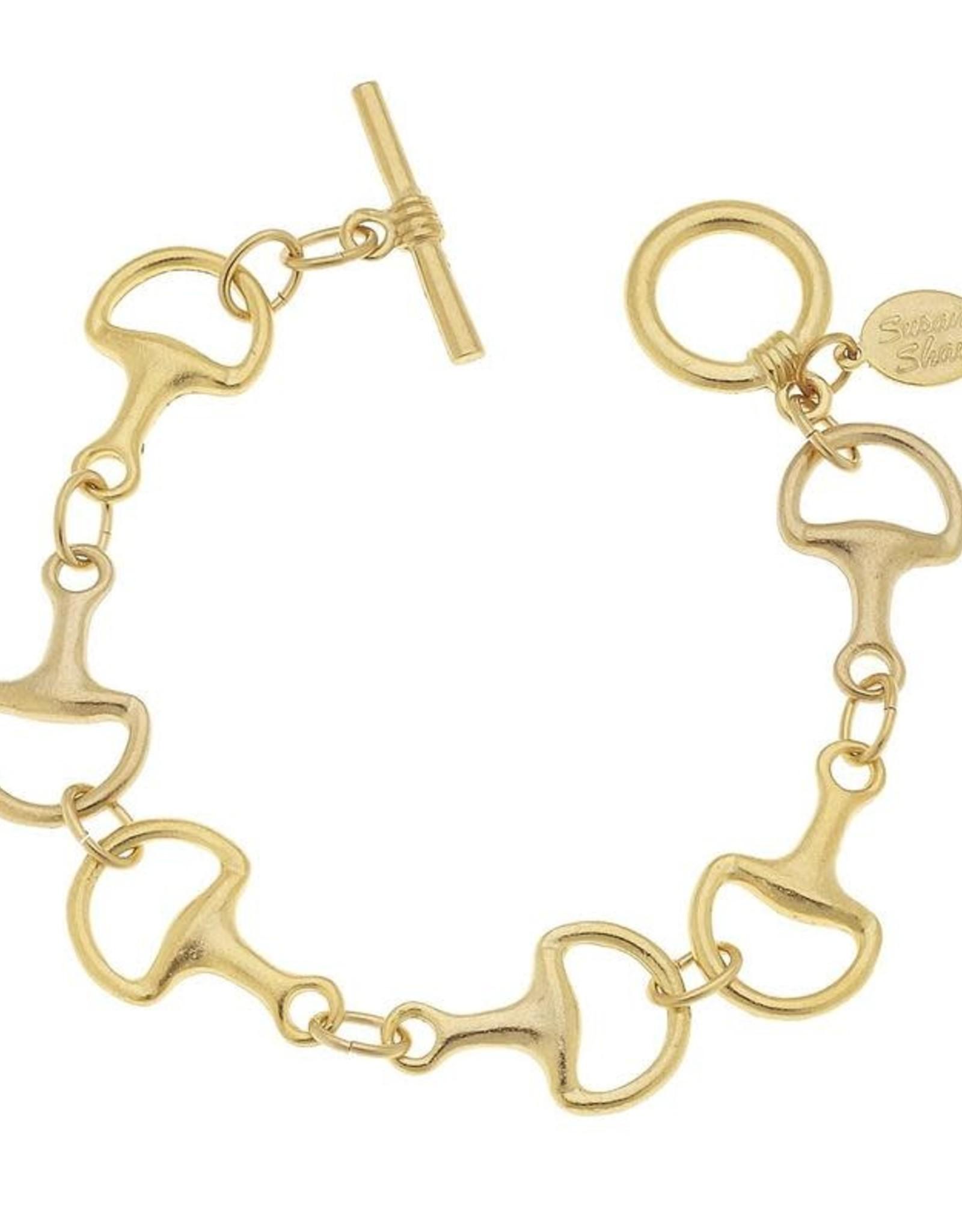 Susan Shaw Shaw Bracelet GOLD Horse Bit