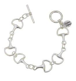 Susan Shaw Shaw Bracelet SILVER Horse Bit