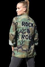 SoJara SoJara Rock & Roll Camo Military Jacket