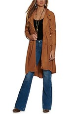 Faux Suede Duster
