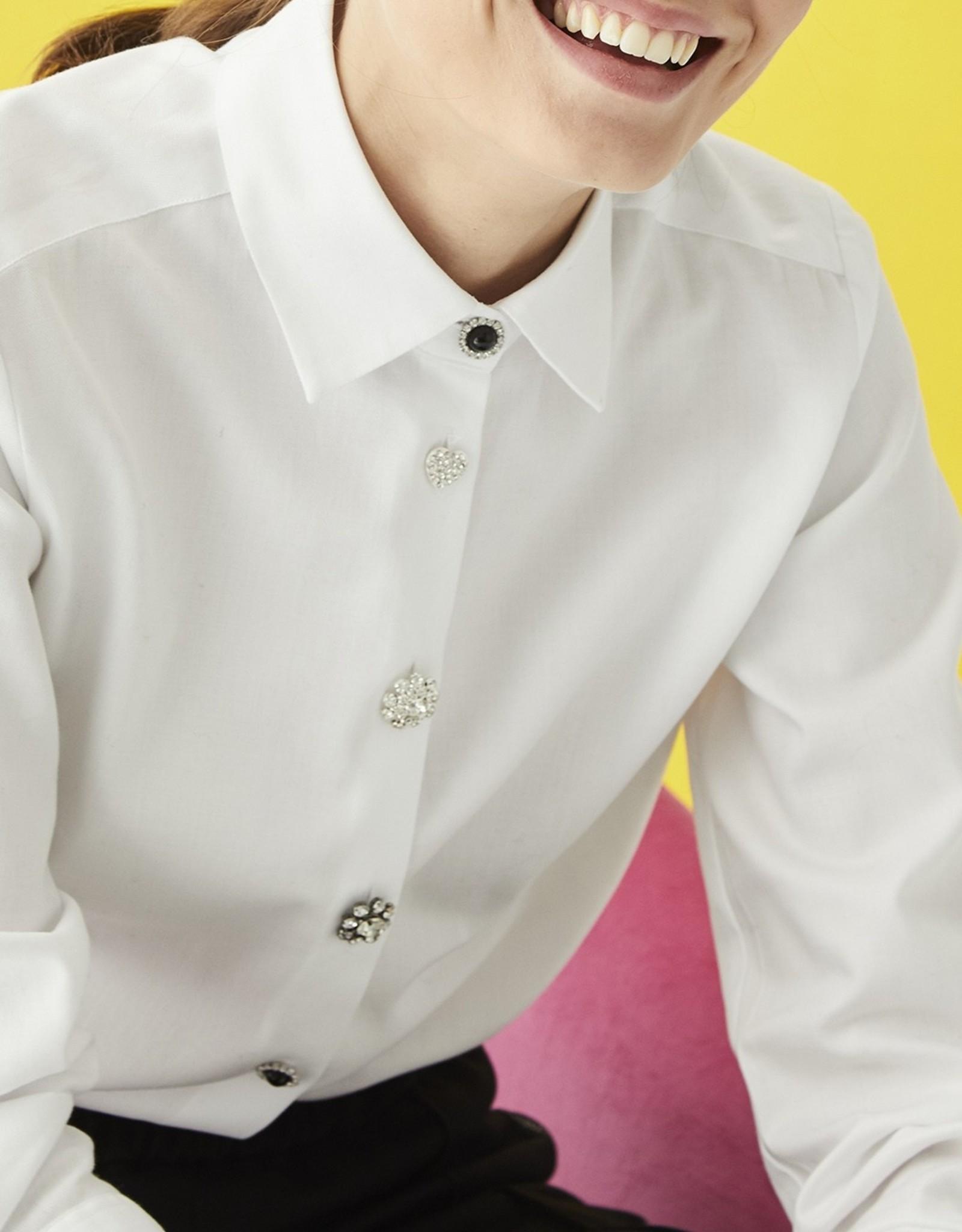 VilaGallo VilaGallo Isabella Crystal Button Shirt