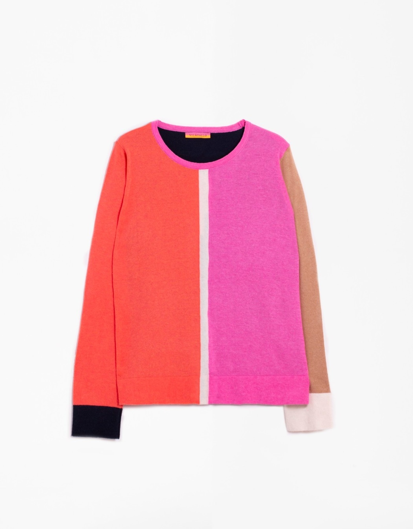 VilaGallo VilaGallo Sybelle Colorblock Knit Sweater