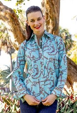 Tizzie by Dizzy Lizzie Tizzie Rome Shirt Turquoise Chains