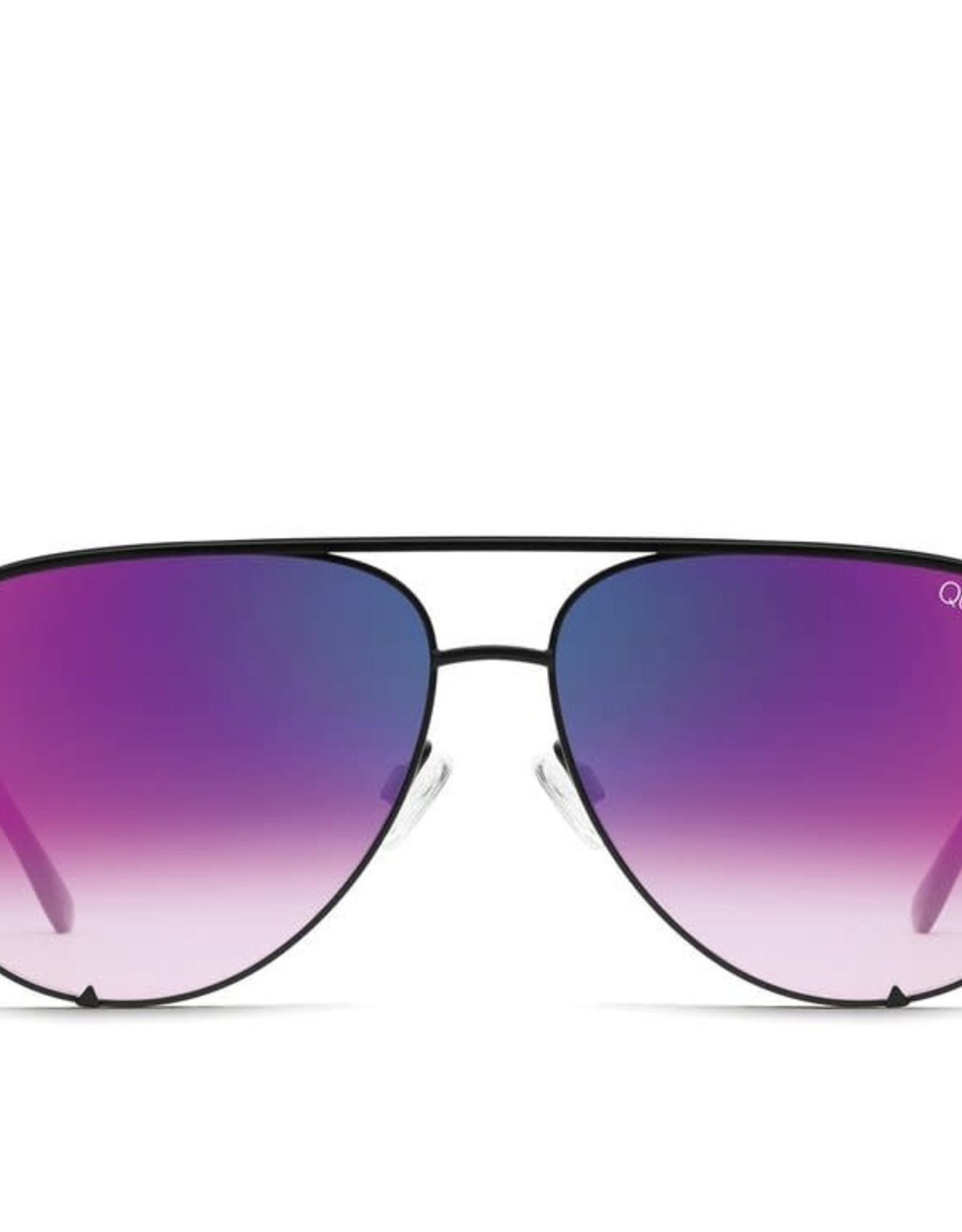 Quay Quay High Key Mini Sunglasses Black/Pink