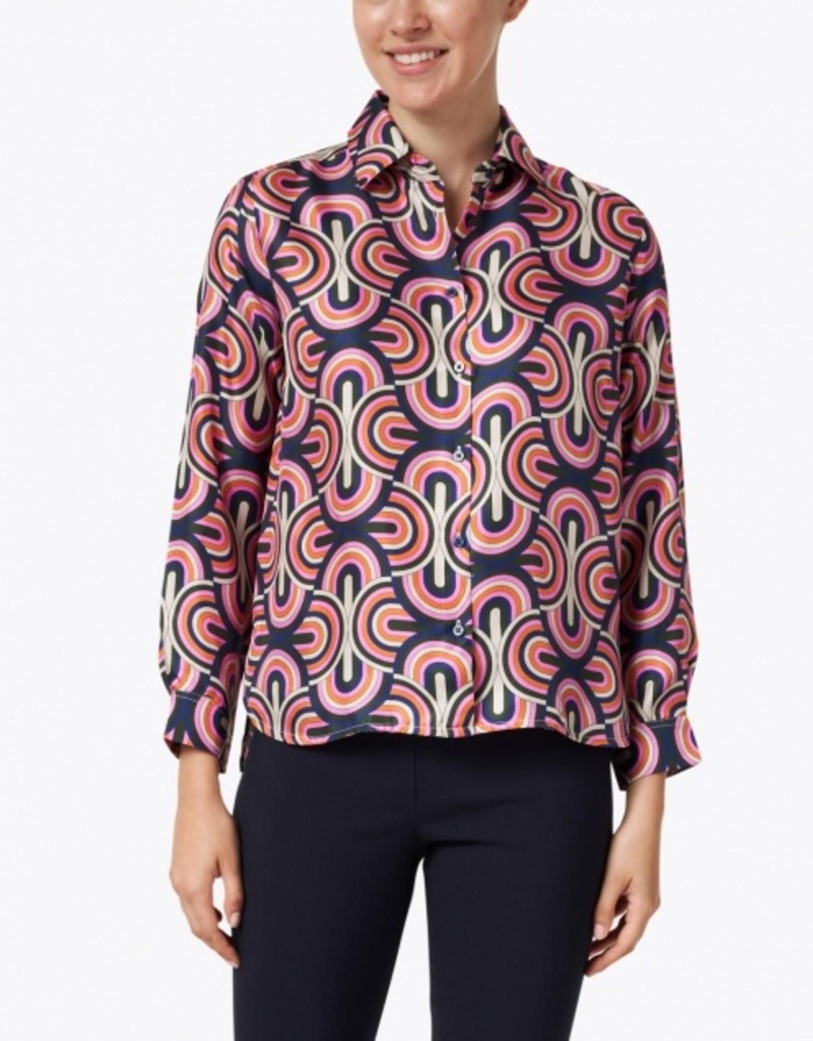VilaGallo Vilagallo Isabella Silk Ancona Print Shirt