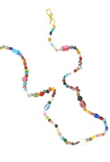 The Sleepy Cottage Whimsical Glass Beads Mask Necklace
