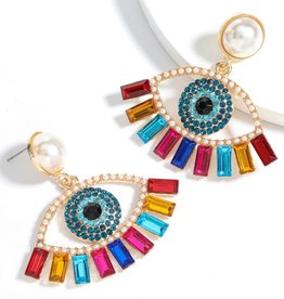 The Sleepy Cottage Earrings Ineffable Eyes - BRIGHT