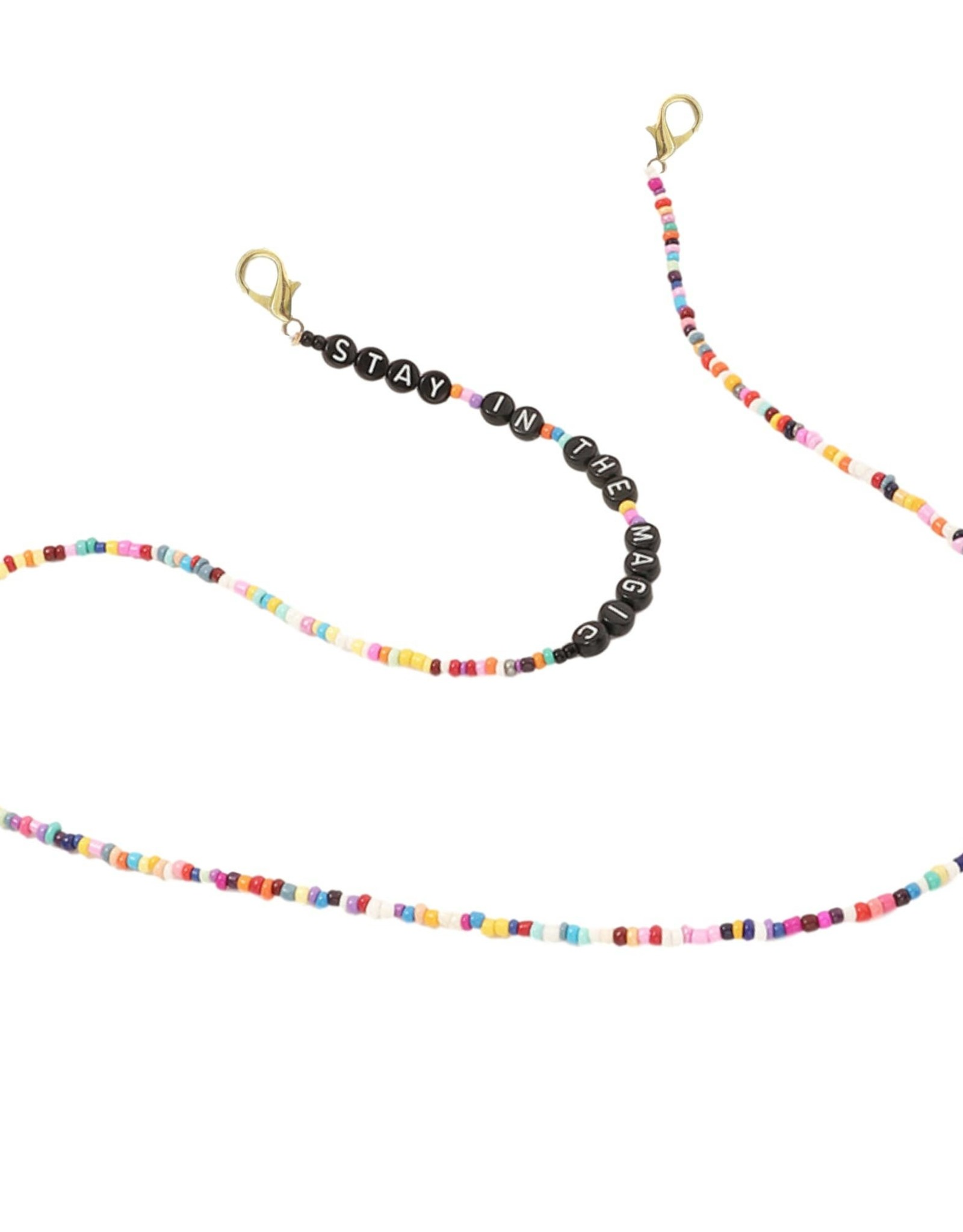 """The Sleepy Cottage Magic Beaded Mask Necklace """"Stay in the Magic"""""""
