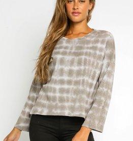 olivaceous Squared Tie Dye Sweatshirt GREY/NUDE