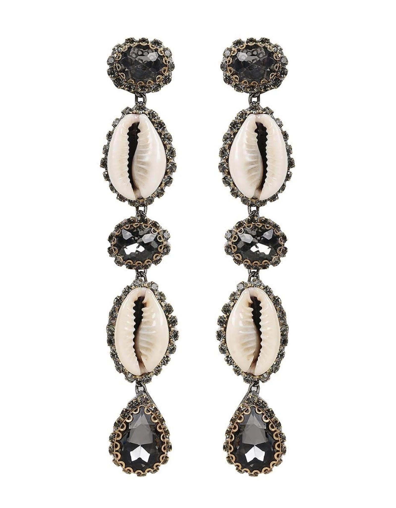 Deepa Gurnani Deepa Gurnani Kaia Cowrie Shell Drop Earrings