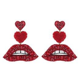 Deepa Gurnani Deepa Gurnani Lips Drop Earrings