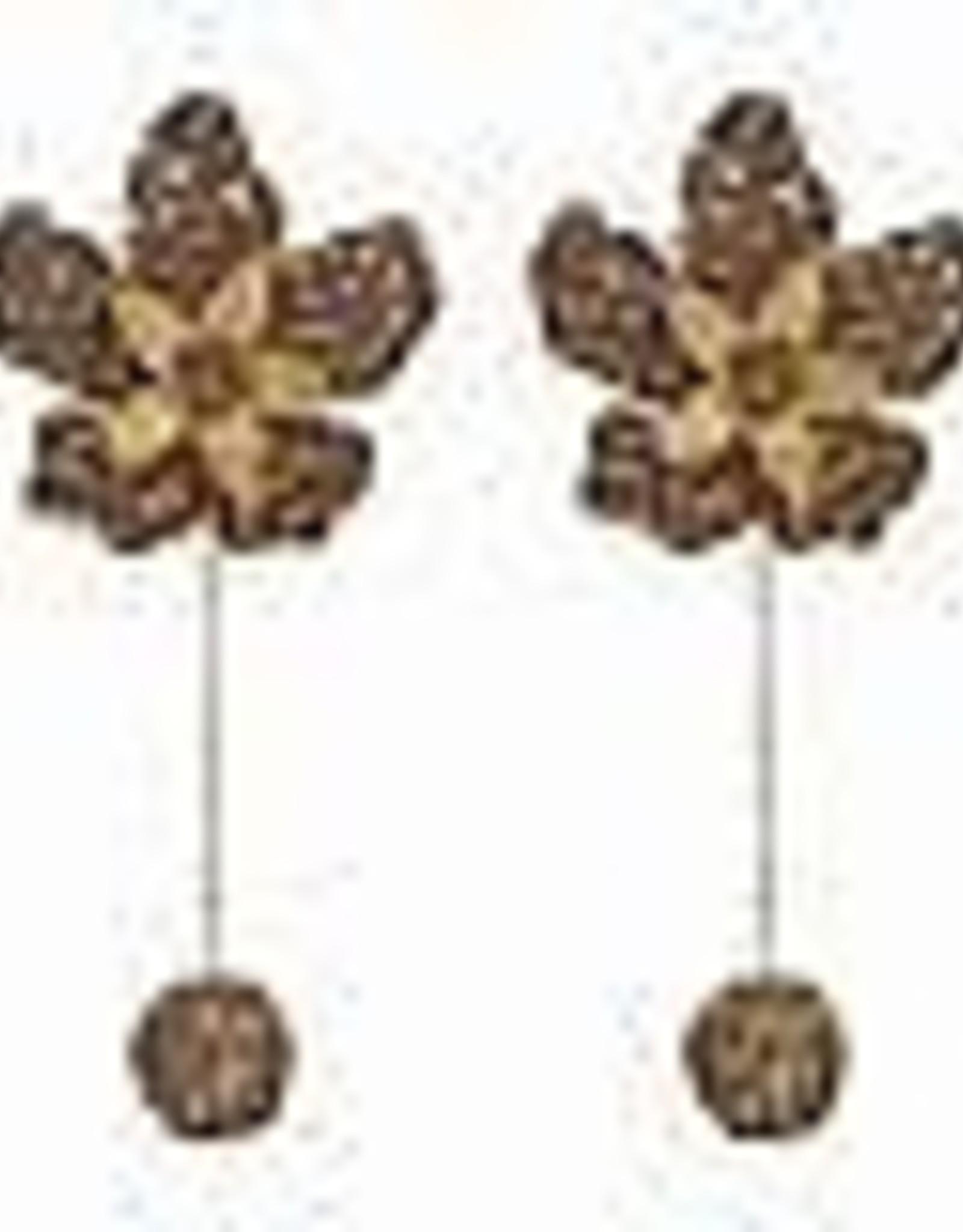 Deepa Gurnani Deepa Gurnani Jazmin Flower Drop Earrings GOLD