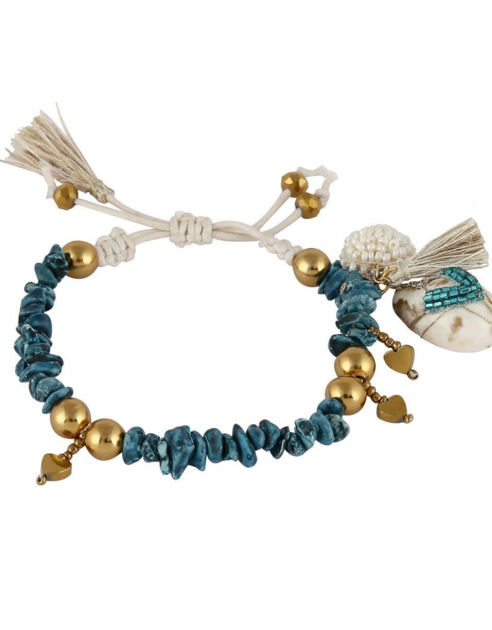 Deepa Gurnani Deepa Gurnani Sidney Stone/Gold Bracelet
