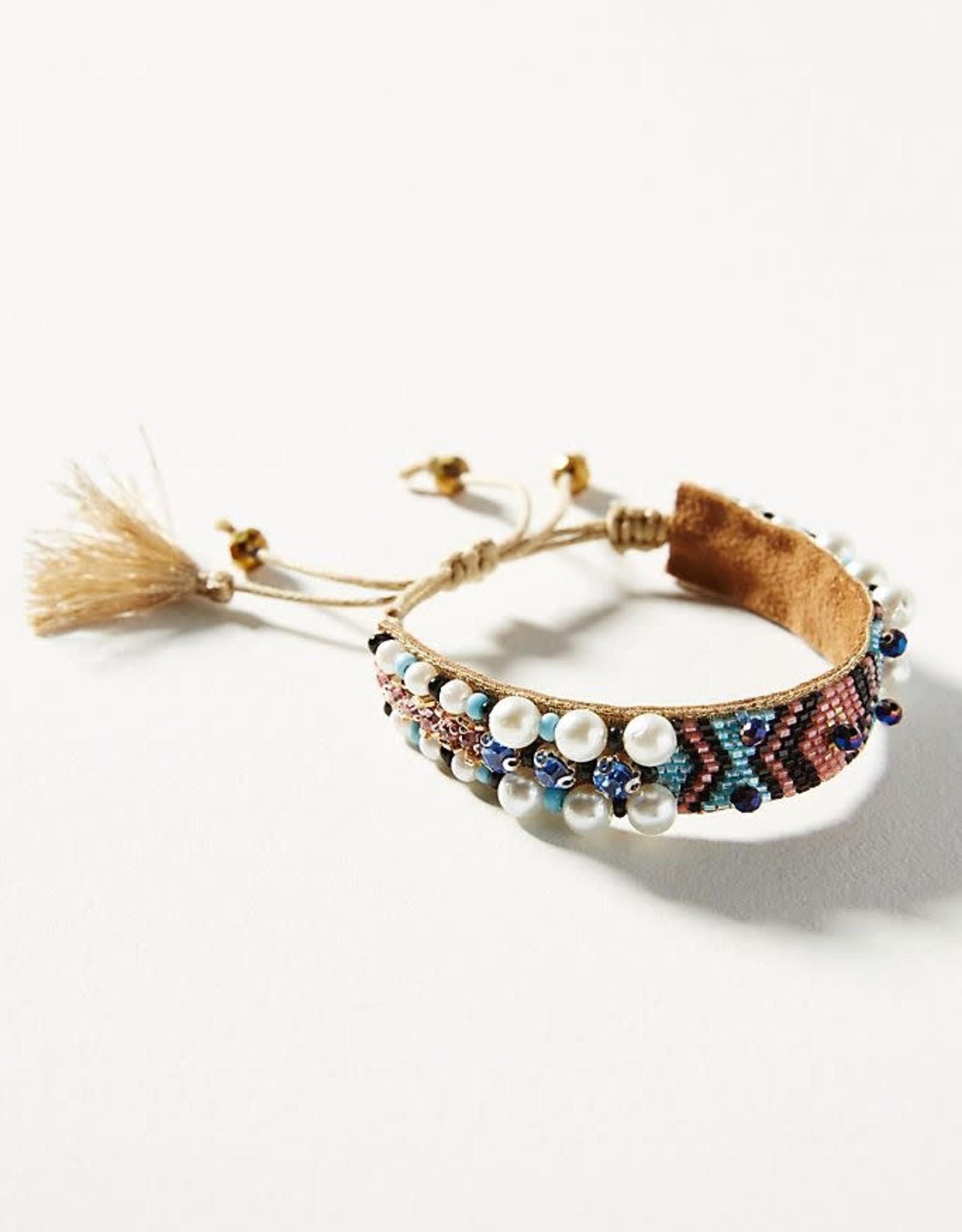 Deepa Gurnani Deepa Gurnani Indigo Pearl Bracelet