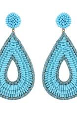 Deepa Gurnani Deepa Gurnani Abia Beaded Teardrop Earrings