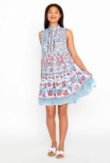 "bella tu Fiona 37"" Sleeveless Dress Poppy RED/BLUE"