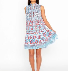 "bella tu Fiona 37"" Sleeveless Dress Poppy RED/BLUE"