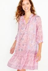 bella tu bella tu Cora Peasant Dress PINK