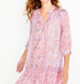 bella tu bella tu Cora Peasant Dress PINK