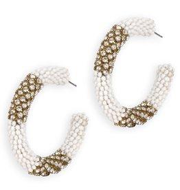 Deepa Gurnani Deepa Gurnani Earrings Lana Beaded Hoops