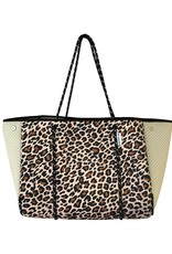 ahdorned Neoprene Tote Perforated Sides