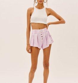 For Love and Lemons For Love and Lemons Gia Striped Swing Shorts