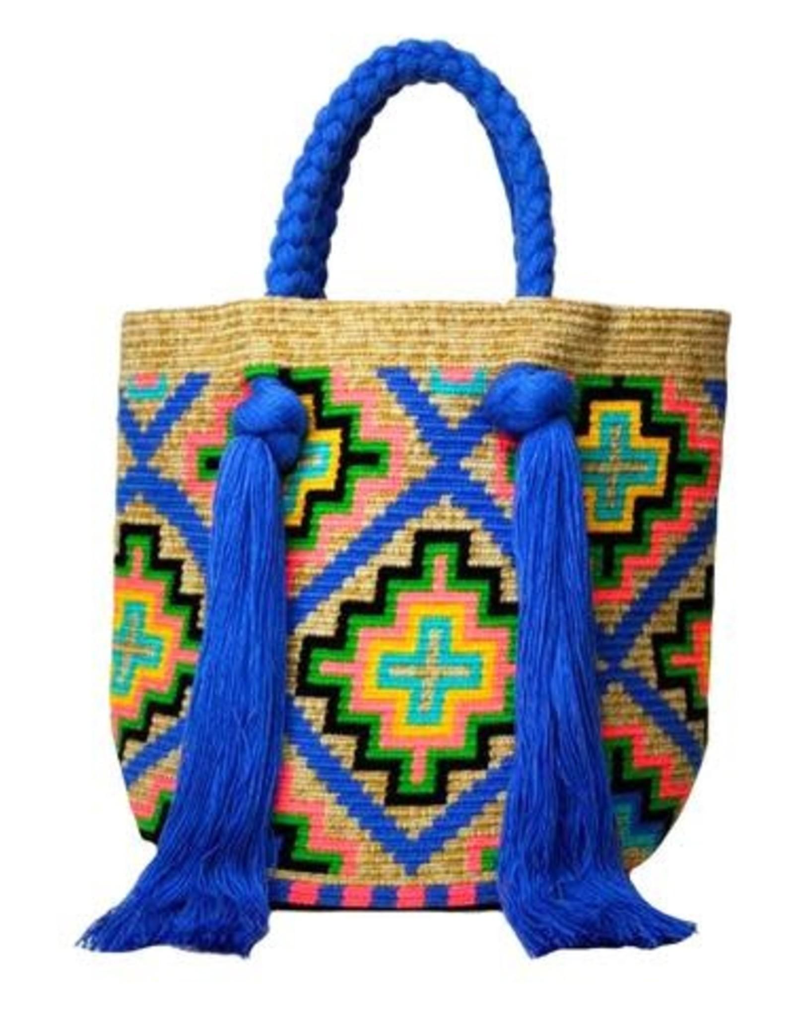 Le Pom Pom Handmade Wayuu Bucket Bag - Assorted