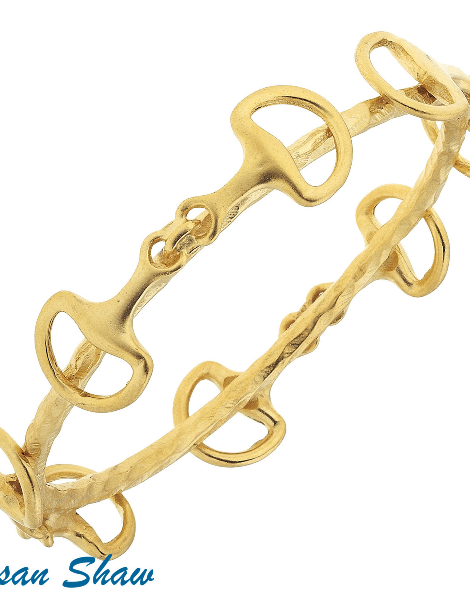 Susan Shaw Shaw Bracelet GOLD Horse Bit Bangle