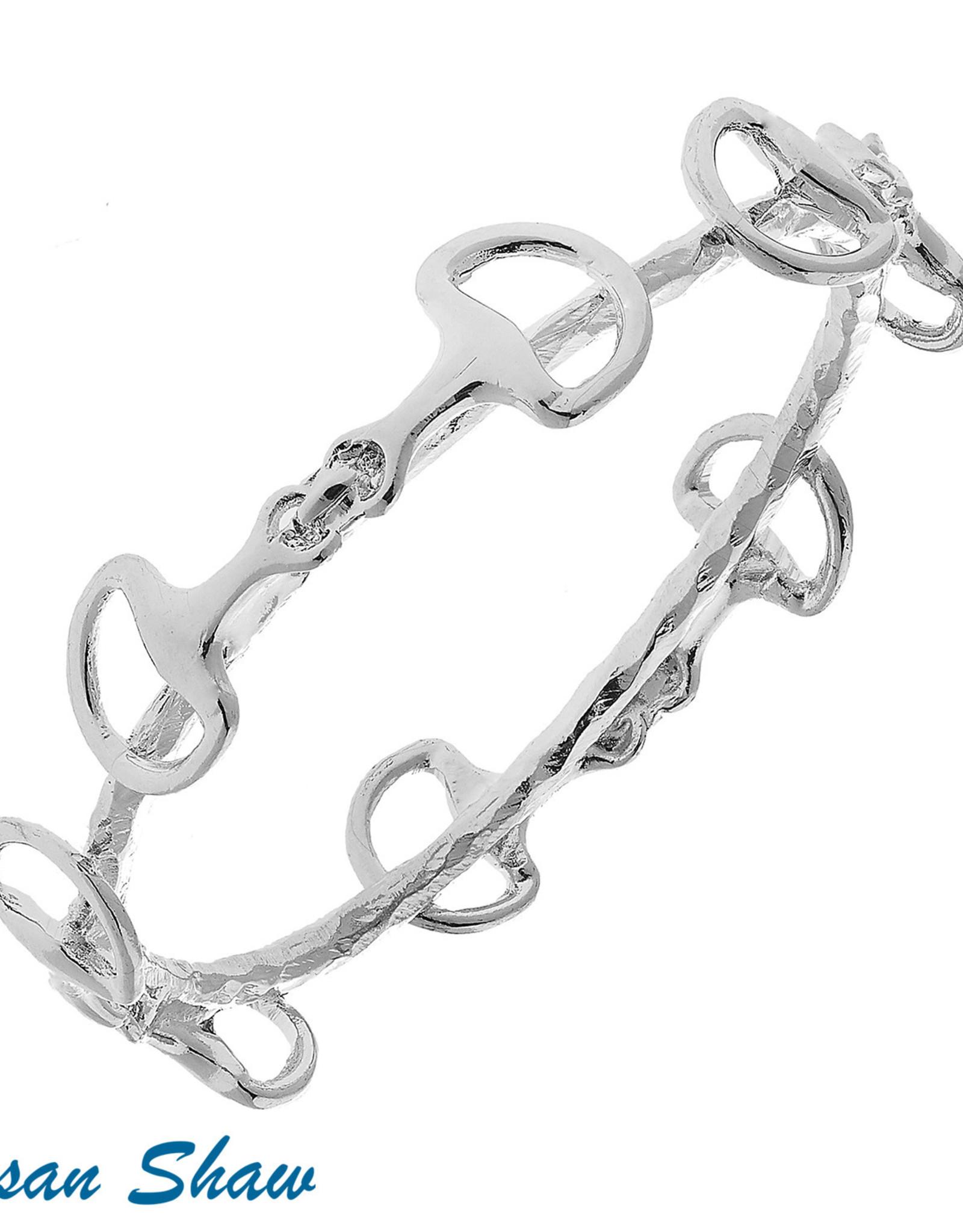 Susan Shaw Shaw Bracelet SILVER Horse Bit Bangle