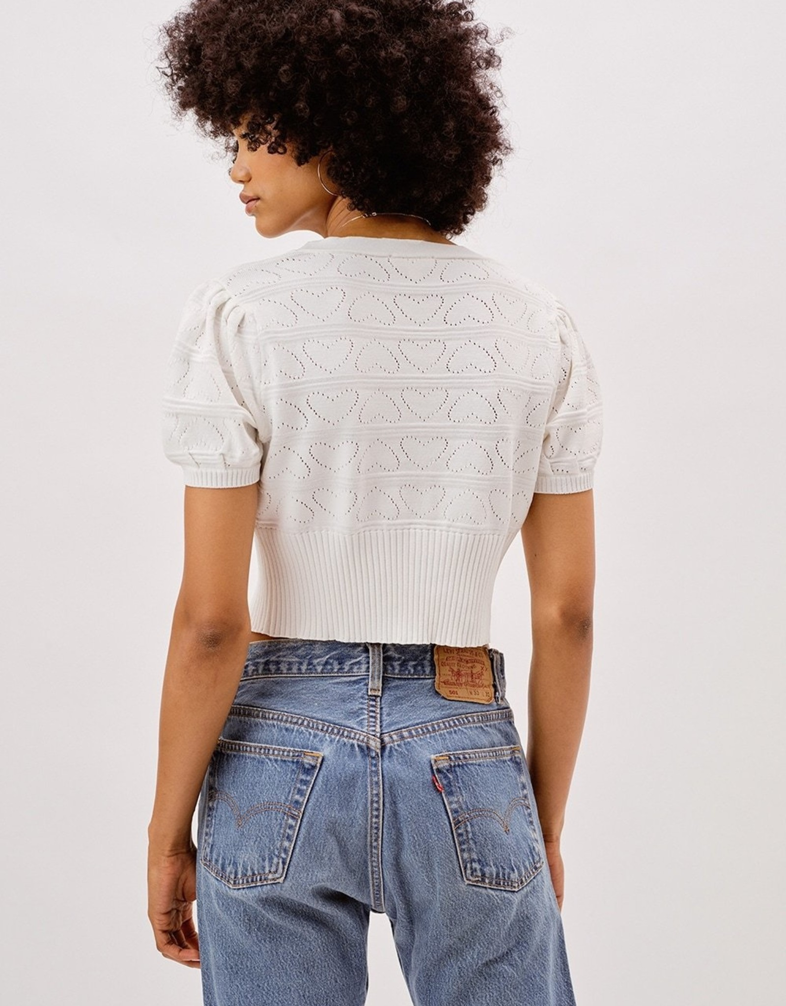 For Love and Lemons For Love and Lemons Neve Crop Cardigan