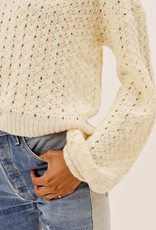For Love and Lemons For Love and Lemons Dawn Hi Low Sweater YELLOW