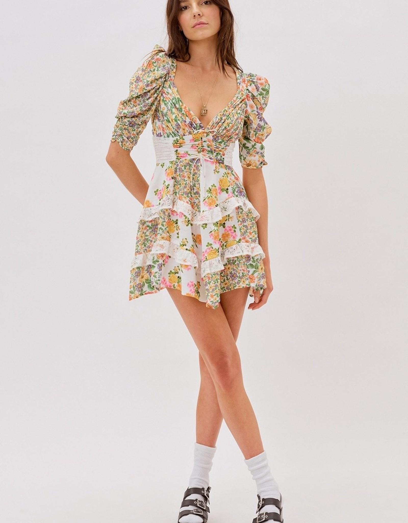 For Love and Lemons for Love and Lemons Rosalyn Mini Dress