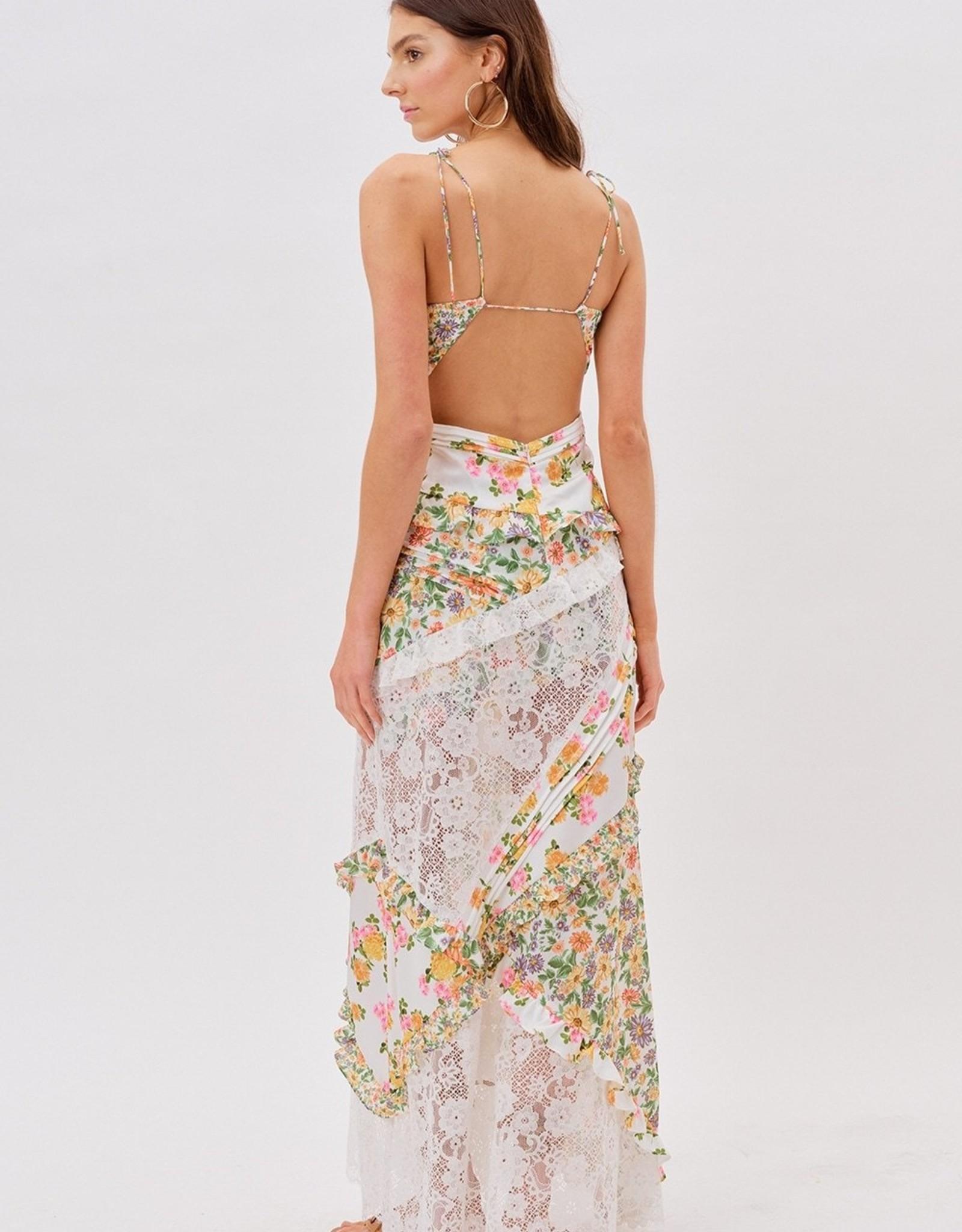 For Love and Lemons For Love and Lemons Rosalyn  Maxi Dress