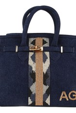 Tiana Tiana Small Tote Beaded Handbag Denim