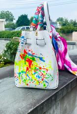 Anca Barbu 30cm Leather Handbag BEACH BIRKIN White