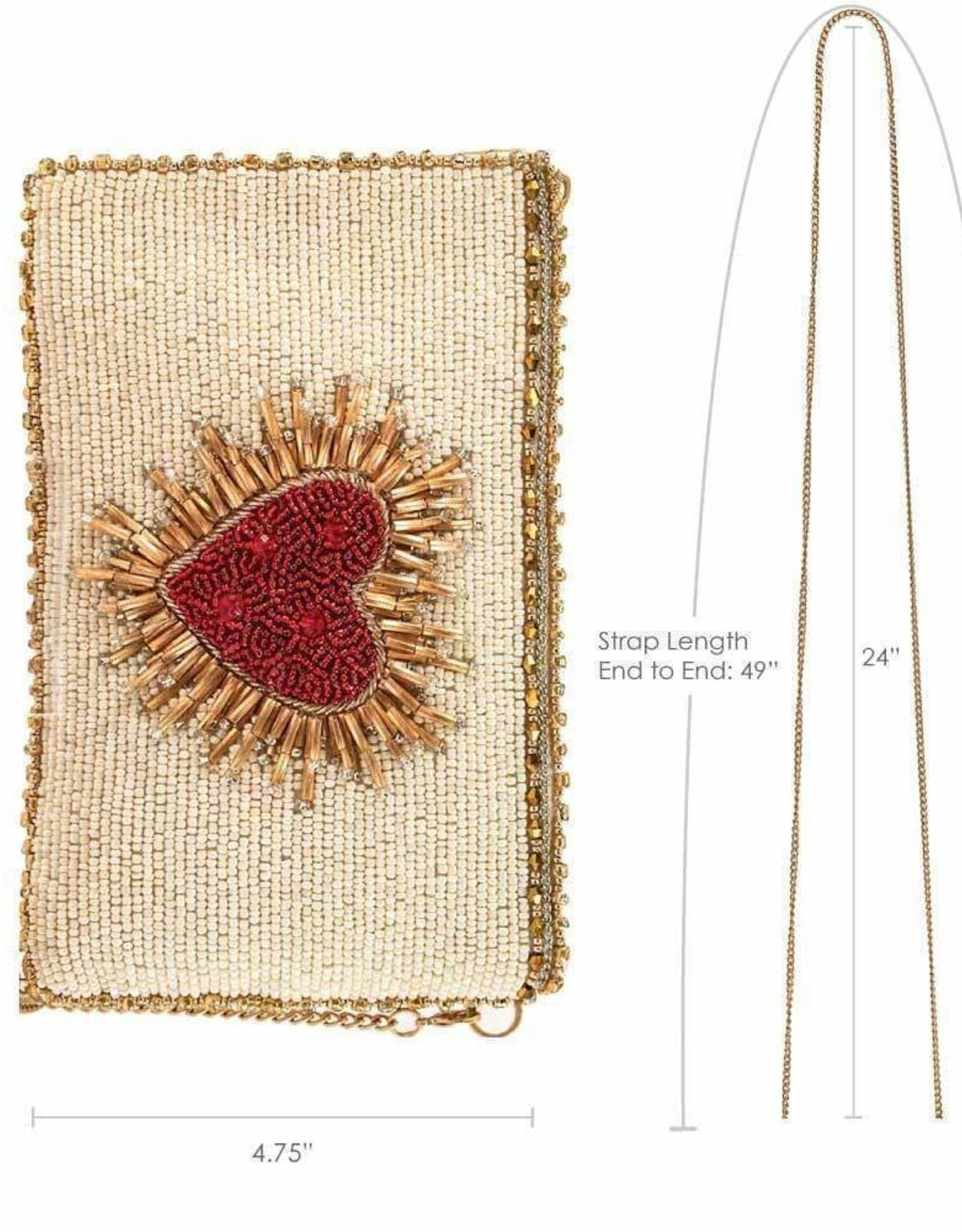 Mary Frances Mary Frances Phone Crossbody Bag HEART BURST