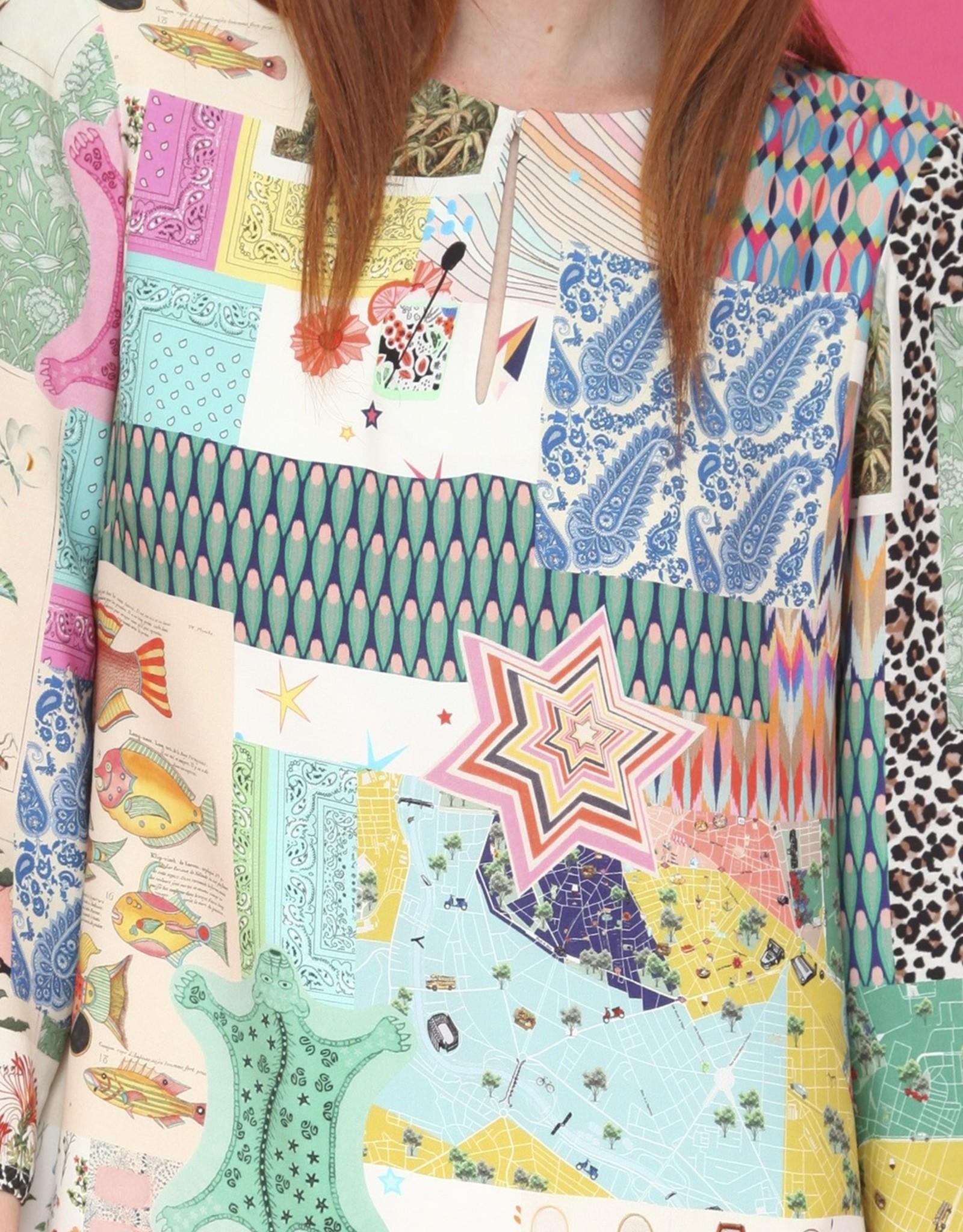 VilaGallo VilaGallo Greta Knit Dress Denpasar Patchwork