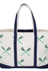 Crab & Cleek Lacrosse BLUE GREEN Tote