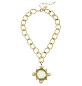 Susan Shaw Susan Shaw Venetian Glass Elegant Horse Pendant Necklace