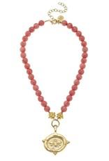 Susan Shaw Susan Shaw Bee Intaglio Stone Necklace