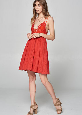 Lace brallete mini dress